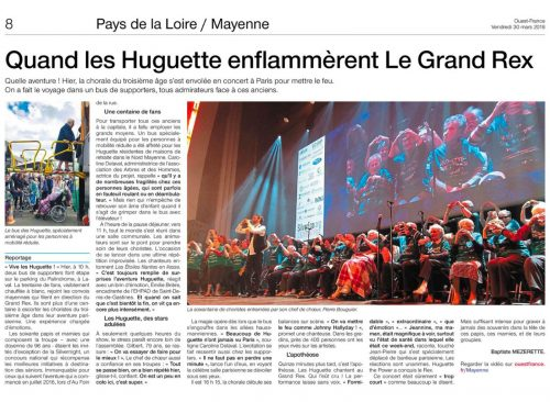 Huguette the power article au grand rex 30 mars 2018