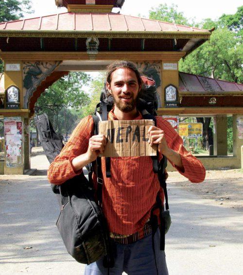 Pierre Bouguier à la frontière Indo Népal