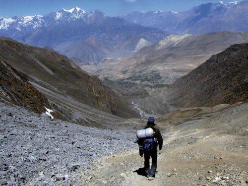 Pierre Bouguier Le vertige de la redescente Népal