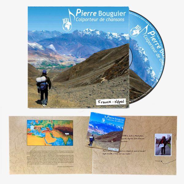 """Carnet de voyage et CD Pierre Bouguier """"Colporteur de chansons"""""""