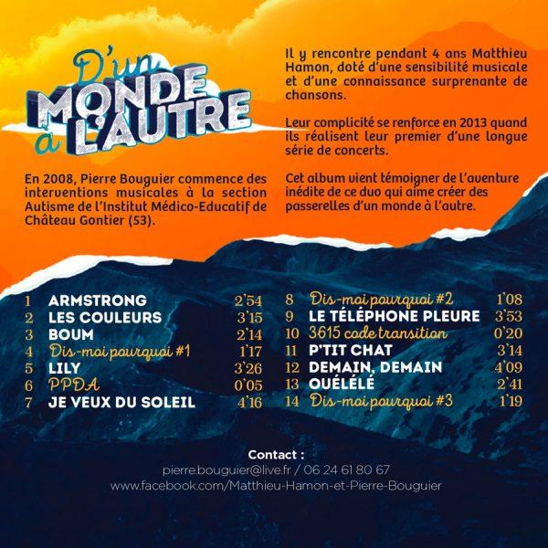 """CD Matthieu Hamon et Pierre Bouguier """"D'un monde à l'autre"""""""